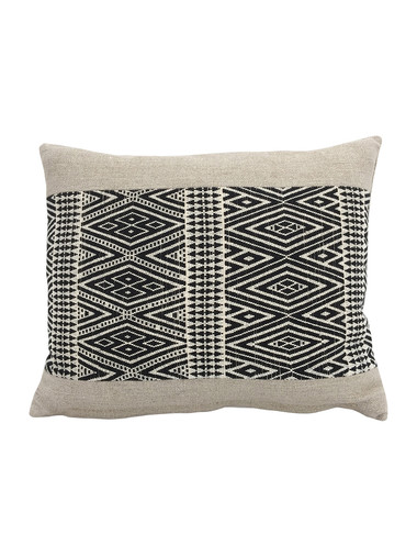 Limited Edition Tribal Black and Natural Embroidery Pillow 34210