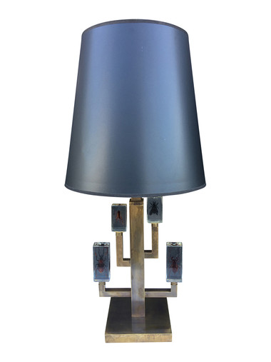 Limited Edition Bronze Lamps with Encased Vintage