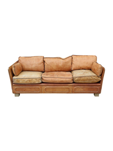1970's Roche Bobois Saddle Leather Sofa 27047