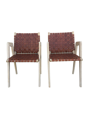 Pair of Lucca Studio Giles Chairs 35083