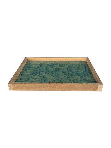 Limited Edition Oak Tray With Vintage Marbleized Paper 34577