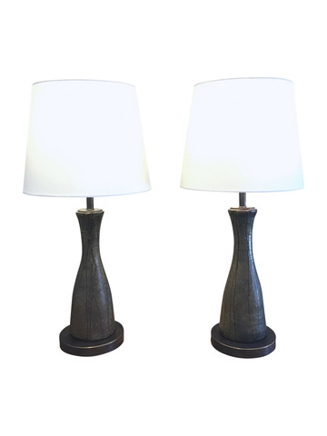 Pair of Limited Edition Danish Elements Lamps 35563