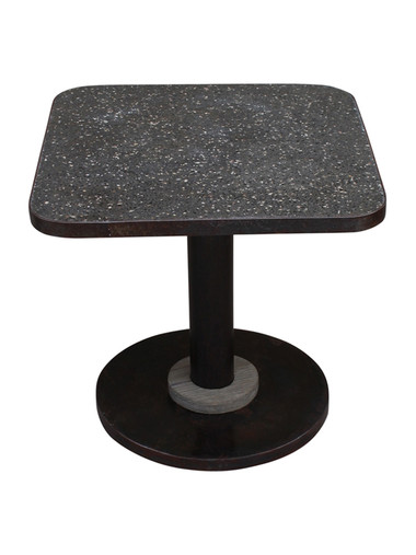 French Stone and Iron Side Table 31381