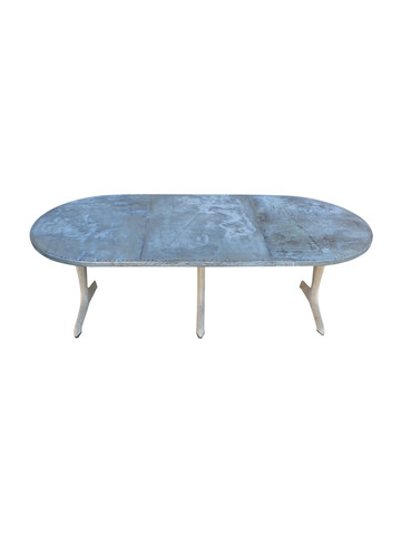 Limited Edition Oval Zinc Dining Table 23630