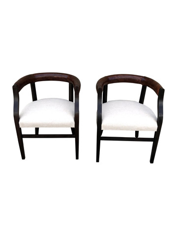 Pair of Lucca Studio Bennet Chairs 35249