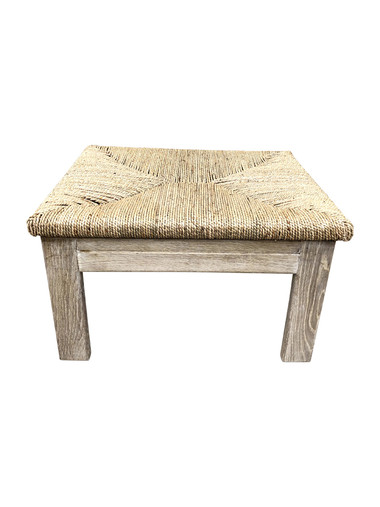 Limited Edition Oak and Rush Ottoman/Stool 36166