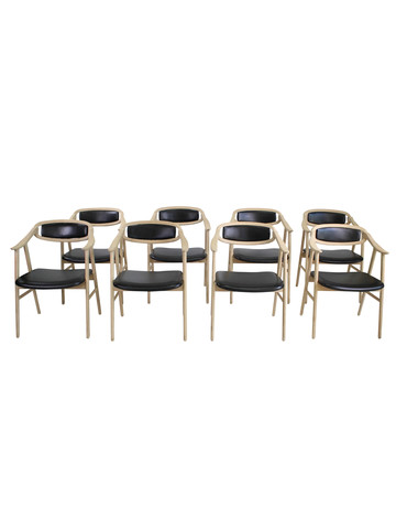 Set of (8) Lucca Studio Neve Dining Chairs 34775