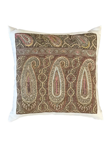 Exceptional 18th Century Embroidery Textile Pillow 34823