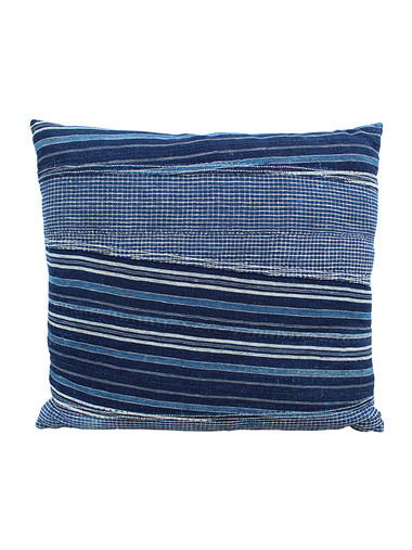 Antique African Indigo Stripe Pillow 29222