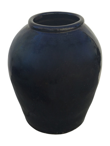 Large Black Glazed Ceramic Vessel from Central Asia 34725