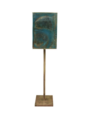 French Bronze and Resin Shade Floor Lamp 28002