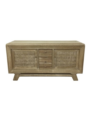 French 1940's Oak Buffet 37161