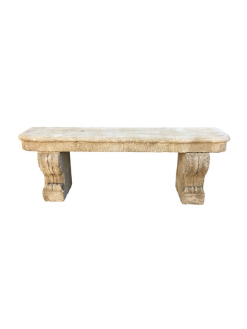 French 19th Century Limestone Bench 32511