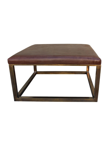 Limited Edition Leather and Brass Coffee Table 25032