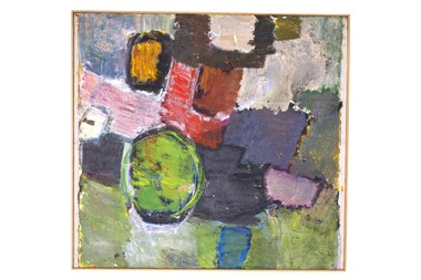 Swedish Abstract Oil Painting by Viktor Tesser 35923