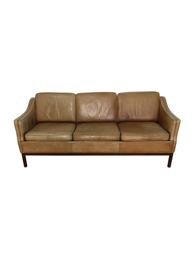 Vintage Danish Leather Sofa 36966