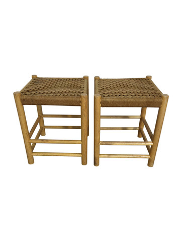 Pair of French and Oak Stools 36506
