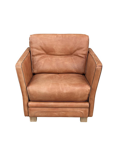 Single French Leather Club Chair 30106