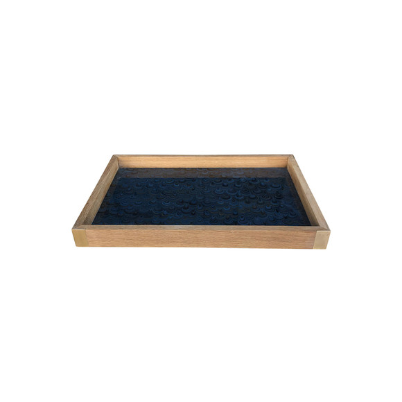 Limited Edition Oak Tray With Vintage Marbleized Paper 34366