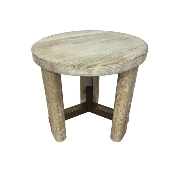 Limited Edition Oak and Bronze Side Table 37277