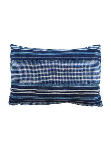 Antique African Indigo Stripe Pillow 28401