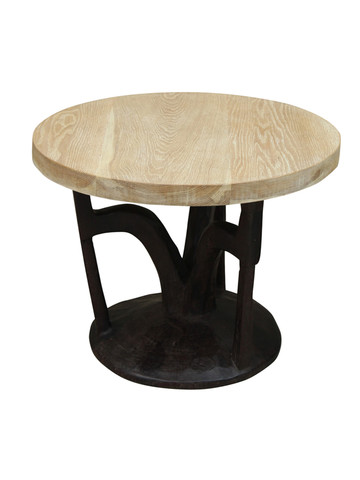 Limited Edition Antique African Base Side Table 26695