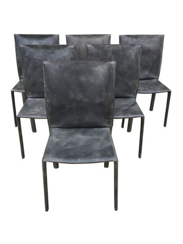 Vintage Set of (6) Leather Bellini Chairs 36131