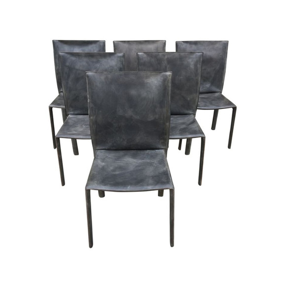 Set of (6) Leather Bellini Chairs 30176