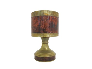 French Brass and Resin Lamp 31617