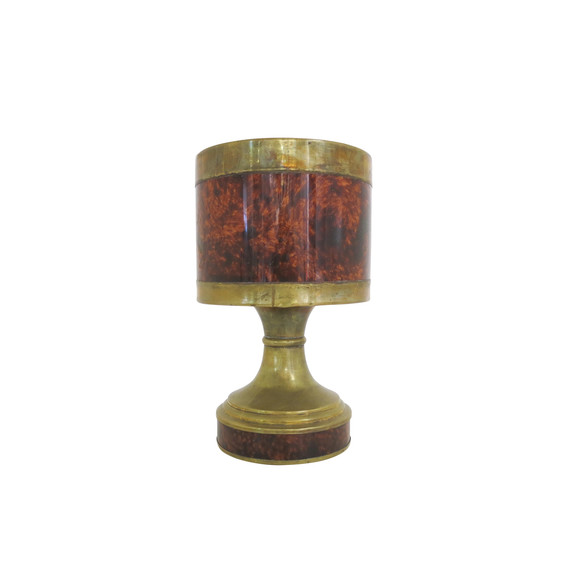 French Brass and Resin Lamp 35595