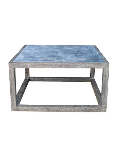 Limited Edition Oak and Zinc Coffee Table Cube 29451