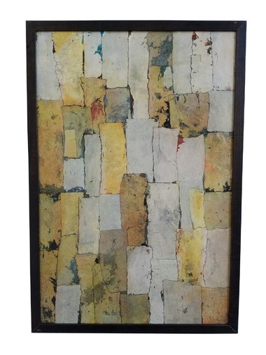 French Mid Century Mixed Media Collage 31288