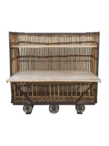 Belgian Rattan and Wood Cart 36179