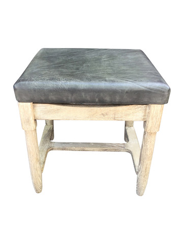 Limited Edition Vintage Leather Top Table/Stool 36907