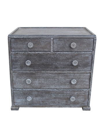 Mid Century French Grey Cerused Commode 23138