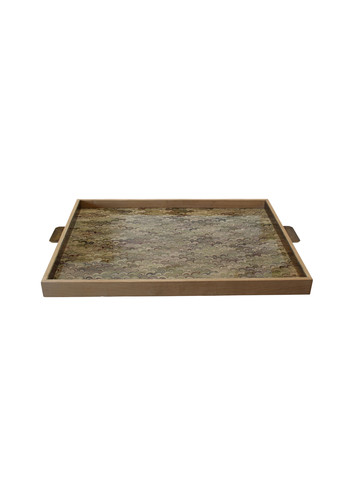 Limited Edition Oak And Marbleized Paper Tray 21998