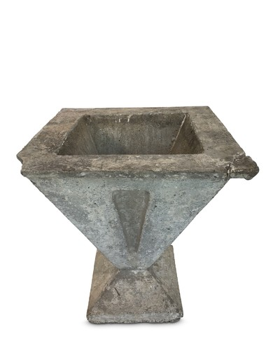 French Deco Cement Planter 19821