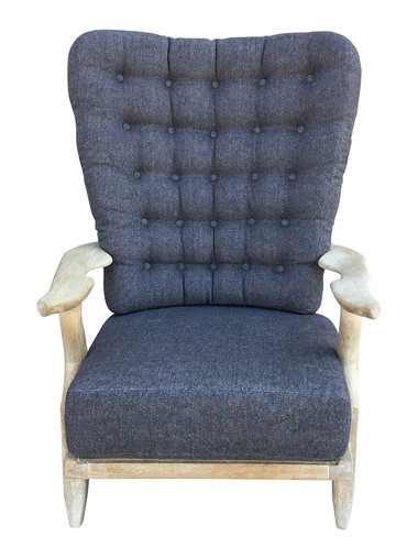 Guillerme et Chambron Cerused Oak Arm Chair 34099