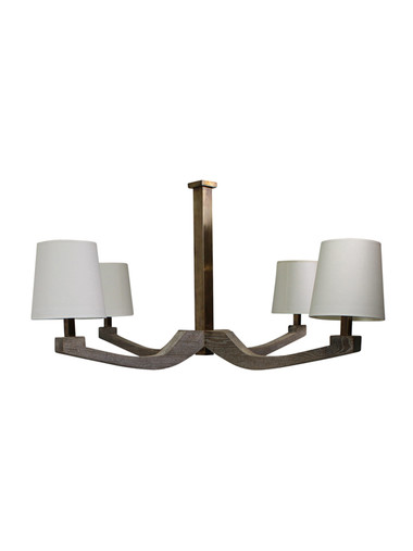 Limited Edition Oak Arm and Brass Chandelier 32141