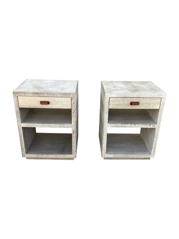 Pair of Oak Night Stands 35486