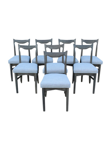Set of (8) Guillerme et Chambron Oak Dining Chairs 32253