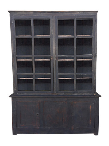 French 19th Century Ebonized Cabinet 32412