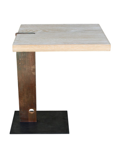 Limited Edition Oak and Bronze Element Side Table 26300
