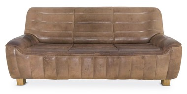Pristine 1970's De Sede Leather Sofa 35920