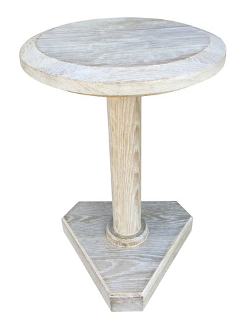 Lucca Studio Bikar Cerused Oak Side Table 33613