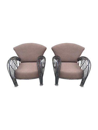 French 1920's Iron Armchairs 34520