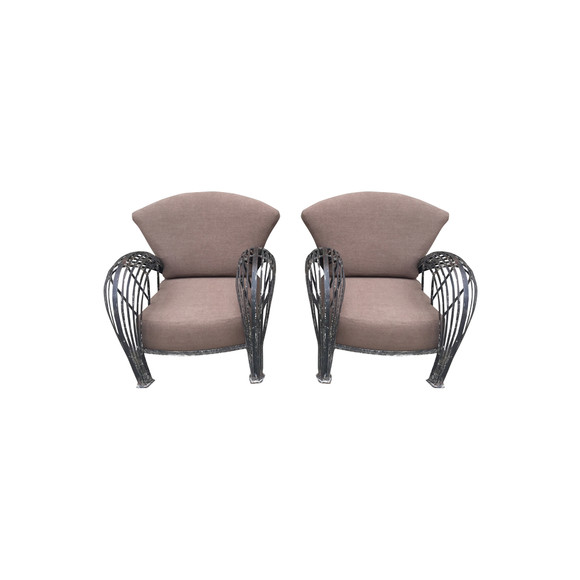 French 1920's Iron Arm Chairs 34520