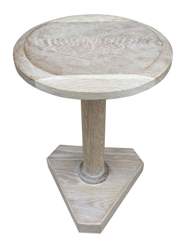 Lucca Studio Bikar Cerused Oak Side Table 33616