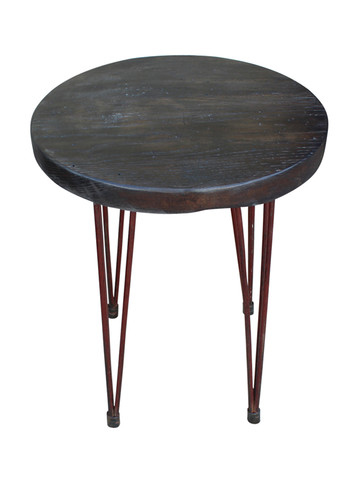 Limited Edition Iron French Hairpin Element Base Side Table 31443