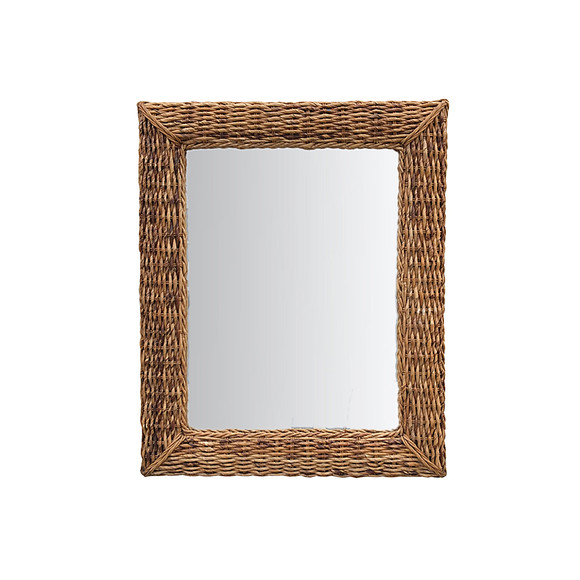 French Rattan Mirror 29468